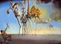 THE TEMPTATION OF ST ANTHONY BY SALVADOR DALI REPRO CANVAS BOX A4, A3, A2, A1