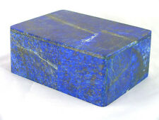 """BUTW Hand Crafted Afghan Lapis Lazuli  3 7/8"""" Jewelry Box Gorgeous Color 1294K"""