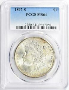 1897-S Morgan Silver Dollar - PCGS MS-64 - Mint State 64 - Certified Morgan $1