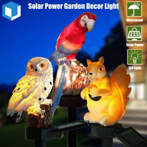 Solar Power LED Animals Lawn Light Waterproof Garden Landscape Resin Decor Lamp