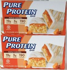 2 Boxes Pure Protein 10.58 Oz Limited Edition Maple Caramel 6 Ct 20g Protein Bar