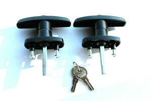 Truck Cap Camper shell topper handles locks T handle ARE LEER Jeracho Jason Caps