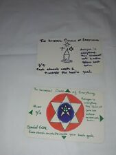 2 The Universal Church of Everything cards for ILLUMINATI, NEW WORLD ORDER 1994