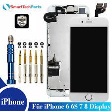 Für iPhone 6 6S 7 8 Display LCD mit RETINA VORMONTIERT Komplett Front Weiß White
