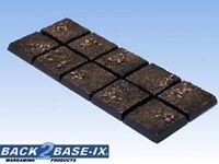 20mm Resin Scenic Bases (10) Square Dirt Warhammer