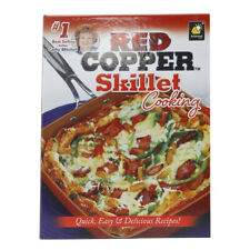 As Seen On TV Red Copper Skillet Cooking Quick Delicious Recipes