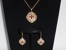 Gorgeous Suzanne Somers Jewel of the Nile Crystal Necklace and Earring Set