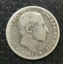 SPAIN - PHILIPPINES: 1881 ALFONSO XII 20 CENTAVOS