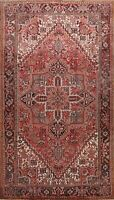 Vintage Geometric Heriz Traditional Area Rug Hand-knotted Oriental Carpet 8'x11'