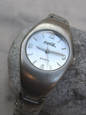 COCA-COLA-CC6038,MONTRE MIXTE BOITIER & VERRE BOMBE,BRACELET ASSORTI,année 2001