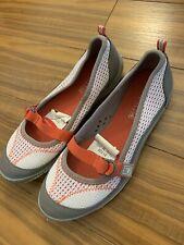 New Women's Sperry Top-Sider Mary Jane Orange Beige Walking Shoes  5.5