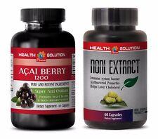 Energy supplement capsules - ACAI BERRY - NONI COMBO 2B - noni fruit juice