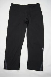 Lululemon Black Womens Tight Leggings Yoga Capri Pants Sz 6