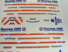 Boston EMS Services 1:64 Water Slide Decals 2 Sets Fits GL Police SUV