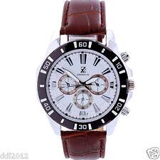 Luxury Men's Leather Strap Chronograph Watches Business Sport Quart Wrist Watch