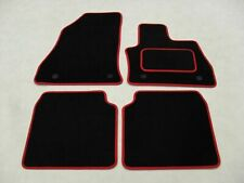 Fiat 500L 2013-17 Fully Tailored Deluxe Car Mats in Black with Red Trim.