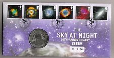 GB QEII PNC 2007 THE SKY AT NIGHT PATRICK MOORE COVER & MEDAL ROYAL MINT