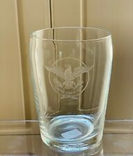 S.S. UNITED STATES Cabin Glass w/ USL Eagle Logo - Excellent Condition