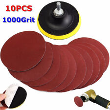 11 in1 4'' 1000 Grit Sanding Disc Paper Loop Sander Pad with Shank for Polishing