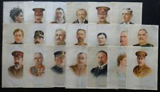 More details for great war leaders silks issued 1916 'g' size top grades