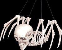Creepy Mutant Hybrid HUMAN SKULL SKELETON SPIDER Horror Monster Prop Decoration