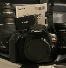 Canon EOS Rebel T6 Bundle 18-55mm Lens 75-300mm Lenses Dslr Manual Camera Bag