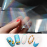 Women Nail Art Stickers Transfer Foil Holographic Clear Shimmer 3D Nail Decal