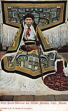 Postcard Chief Goosh-Tate-a-er art, Chilkat Blankets in Sitka, Alaska~112994