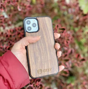 OXSY Walnut Wooden iPhone 12 / 12 Pro Slim Case