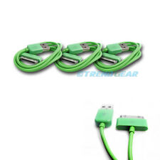 3X 6FT USB TO 30 PIN GREEN CABLE DATA SYNC CHARGER SAMSUNG GALAXY TAB TABLET 7.0