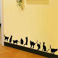 Abnehmbare Art Vinyl Zitat DIY Katzen Wandaufkleber Decal Mural Room A+