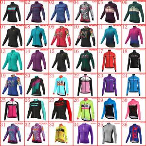 Women Cycling Long Sleeve Jersey Racing Bike Shirts Bicycle Tops Sports Uniform