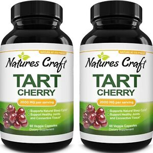 Tart Cherry Extract Joint Support Gout Relief Balance Uric Acid Antioxidant 60ct