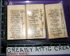STAMPIN UP SIDEKICK SAYINGS 3 RUBBER STAMPS CHRISTMAS HAPPINESS GARDENERS