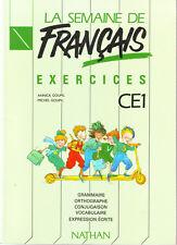 La Semaine De Français * Exercices  CE1 * NATHAN * manuel scolaire * MDL