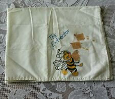 "Vtg Linen Towel Napkin Decorated Fabric Paint ""The Extractor"" Bee Honey Crackers"