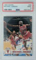 1993 93 Hoops Michael Jordan #28, Chicago Bulls, HOF, Graded PSA 9