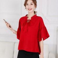 Blouse Fashion Chiffon Shirt Summer Top Short Sleeve Ladies Loose T-Shirt Women