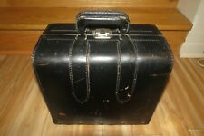 Vintage Master Products 3 - Slot Catalog Case Top Grain Saddle Leather Bag Black
