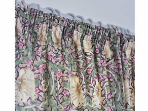 William Morris Pimpernel Fully Lined Curtains & Tie Backs In Aubergine