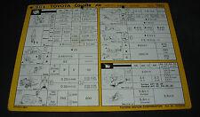 Inspektionsblatt Toyota Corolla Diesel CE 80 Werkstatt Service Blatt 10/1986!