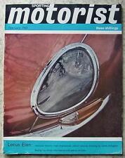 SPORTING MOTORIST Magazine Feb 1963 LOTUS ELAN Ford Cortina Lotus HUMBER SCEPTRE