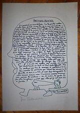 Yvon Taillandier sérigraphie signée figuration libre art brut abstraction art