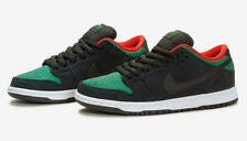 NIKE DUNK LOW PRO SB Shoes - Black/Green/Red - Size 9.5 - NIB