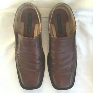 Skechers Collection size 13 Men's loafers brown leather upper made In Italy