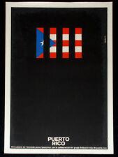 """1975 Cuban ORIGINAL Movie Poster.Plakat.Affiche.affisch""""Puerto Rico""""Silkscreen"""