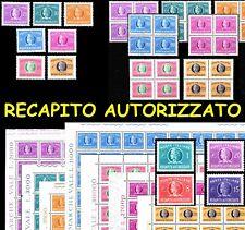ITALIA Repubblica Recapito Autorizzato MNH ** Singoli, quartine e fogli !