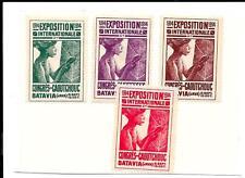 MALAYA / BATAVIA 1914 RUBBER STAMPS x 4.
