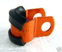 Universal JMP Pro-Bolt Motorcycle Brake Line Hose Holder 6mm Anodised Alu Orange