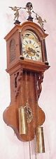 Dutch Frisian Tail Figural oak Friese Wall Clock 8 Day moon phase weight driven